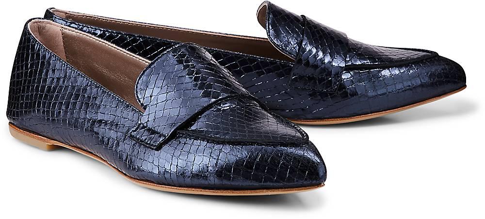 Leder-Loafer von AGL in blau für Damen. Gr. 36,37,38,38.5,39,39.5,40,41,42 Preisvergleich