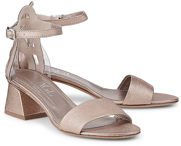 AGL Metallic-Sandalette