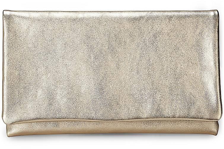 Metallic-Clutch in gold, Clutches & Abendtaschen für Damen Gr. 1 Abro