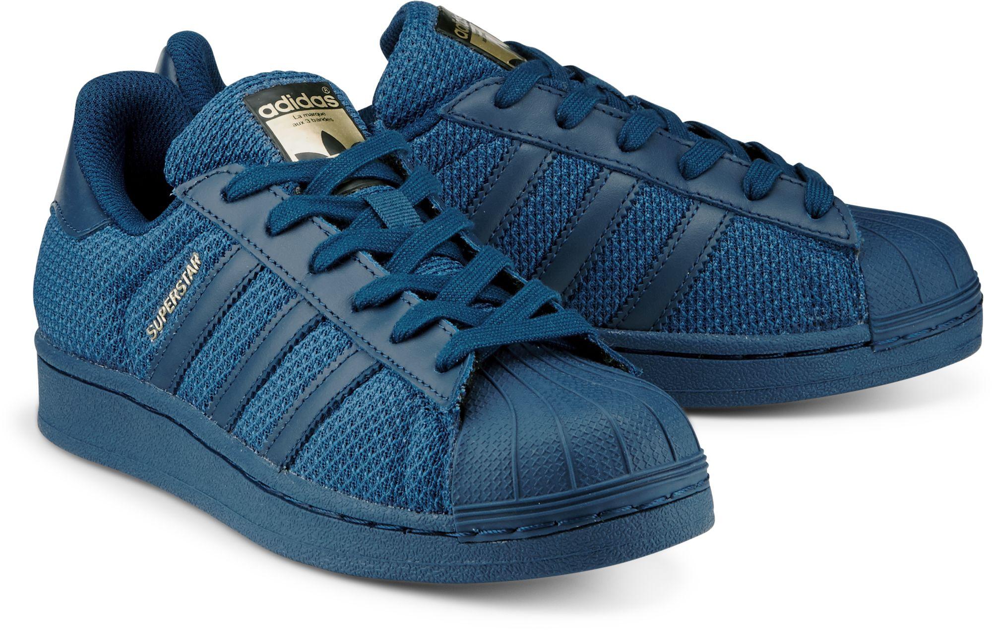 dunkel SUPERSTAR Originals von Adidas JUNIOR für blau in wOZTkuPXi