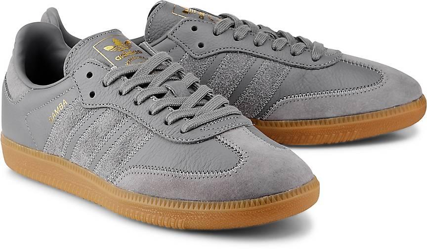 ADIDAS ORIGINALS HERREN Sneaker Schuhe Samba OG, Weiss Gr