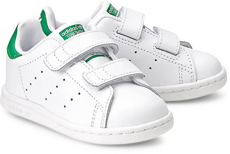 Stan Smith Adidas Klettverschluss Leder Sneaker weiß 29 Turnschuh