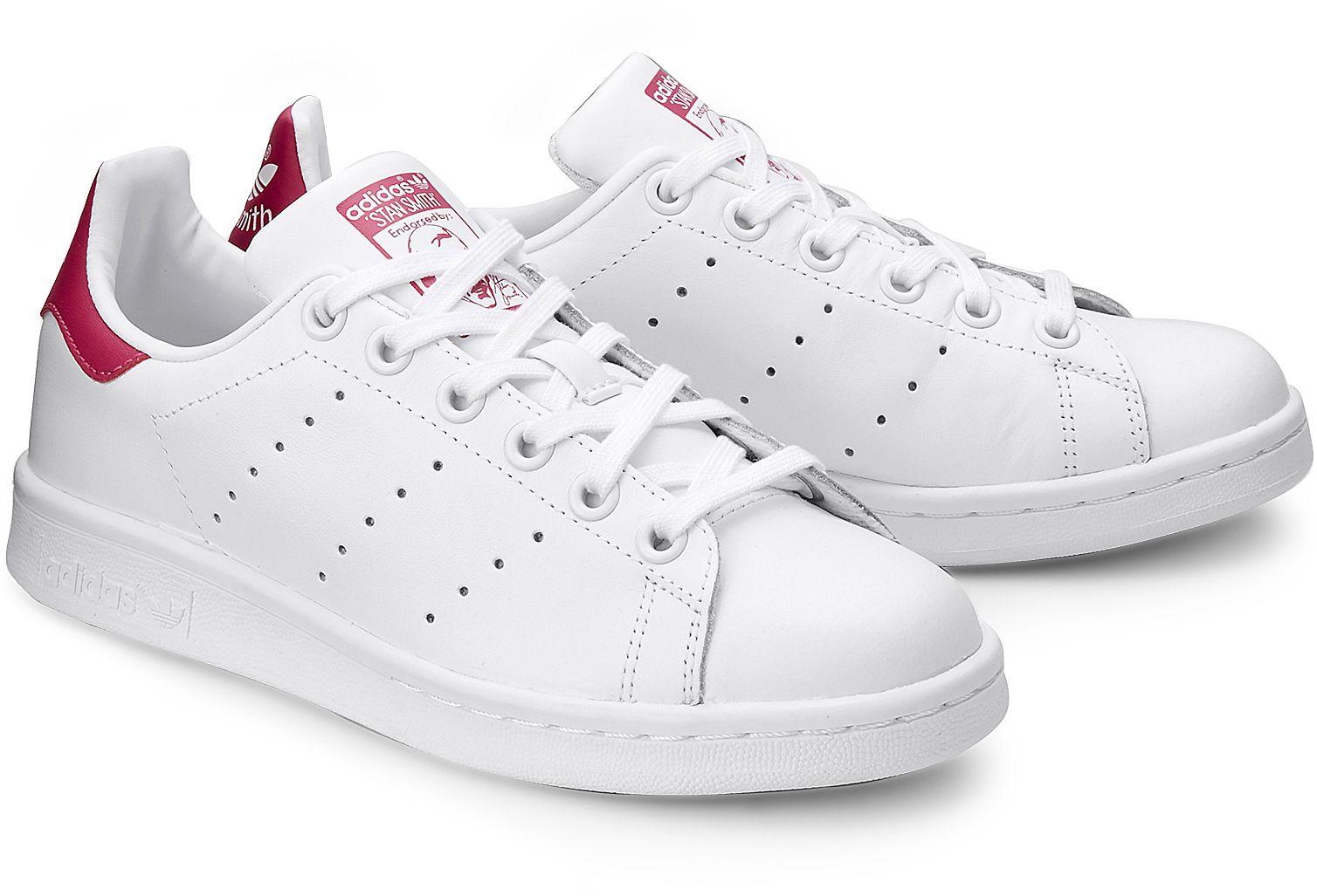 35edfaa41bc82 Sneaker STAN SMITH K von Adidas Originals in weiß für Mädchen. Gr. 35 ,36,37,38,39