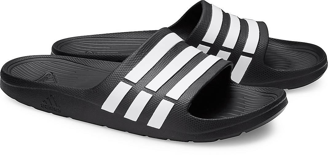 Adilette DURAMO von Adidas Performance in schwarz für Herren. Gr. 42,43 1/3,44 2/3,46,47 1 Preisvergleich