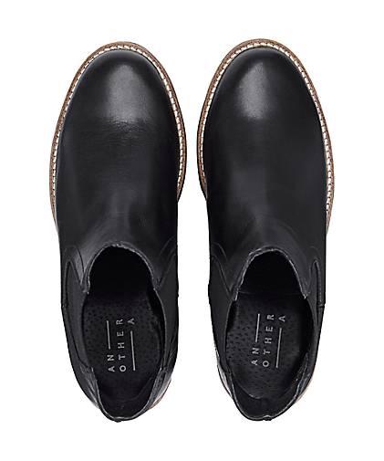 Another A Damen Damen Schnürboots, Schwarze Stiefel aus
