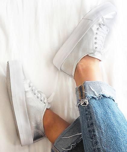 Another A Plateau-Sneaker in silber kaufen - 44136509 beliebte | GÖRTZ Gute Qualität beliebte 44136509 Schuhe d6da1e