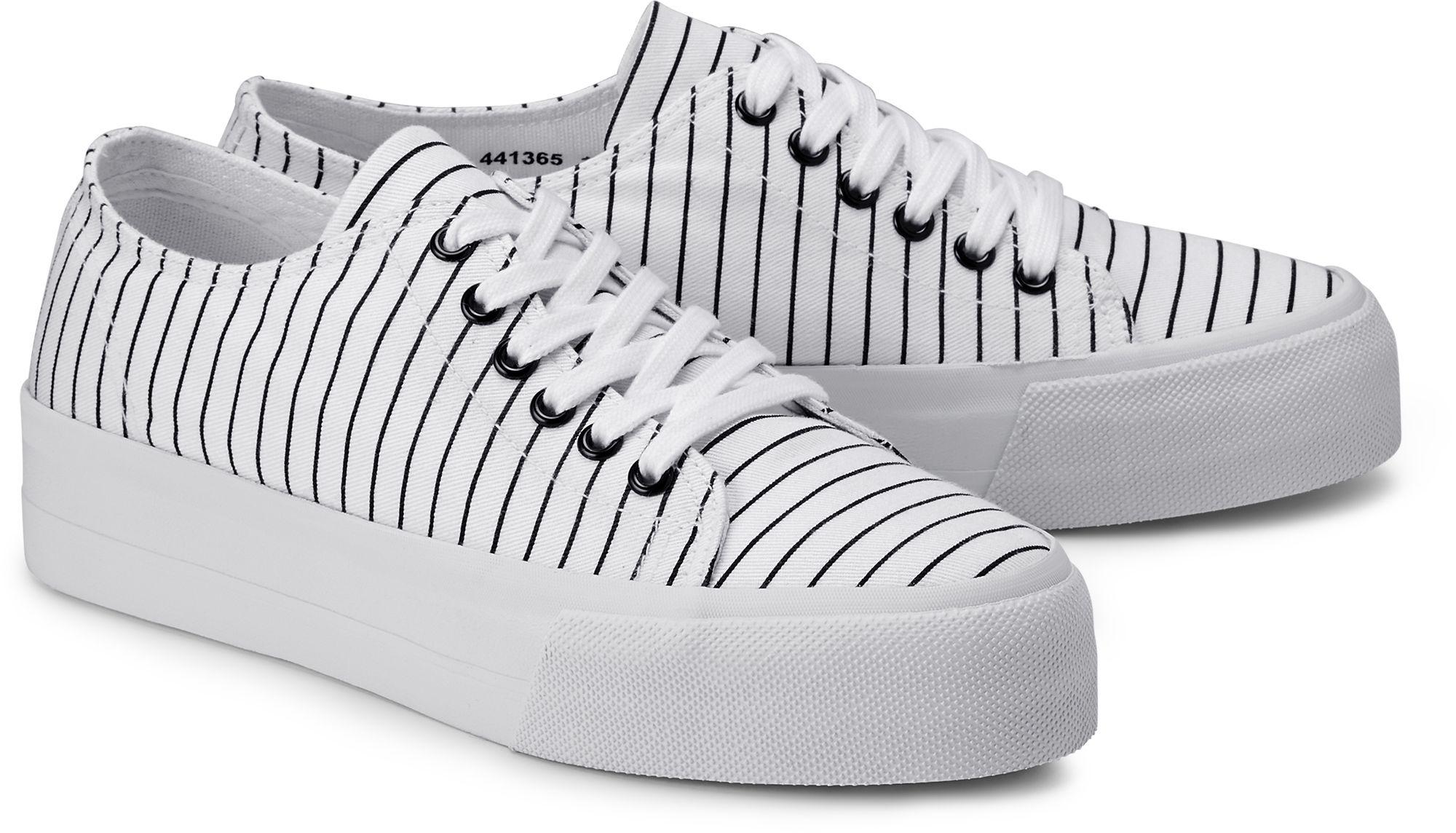 12ddcaba415b1a Plateau Sneaker von Another A in weiß für Damen. Gr. 37