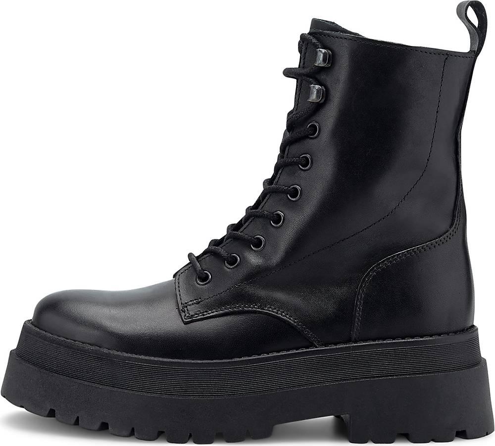 Another A| Platform-Schnürstiefelette in schwarz| Boots für Damen | Schuhe > Stiefel > Schnürstiefel | Another A