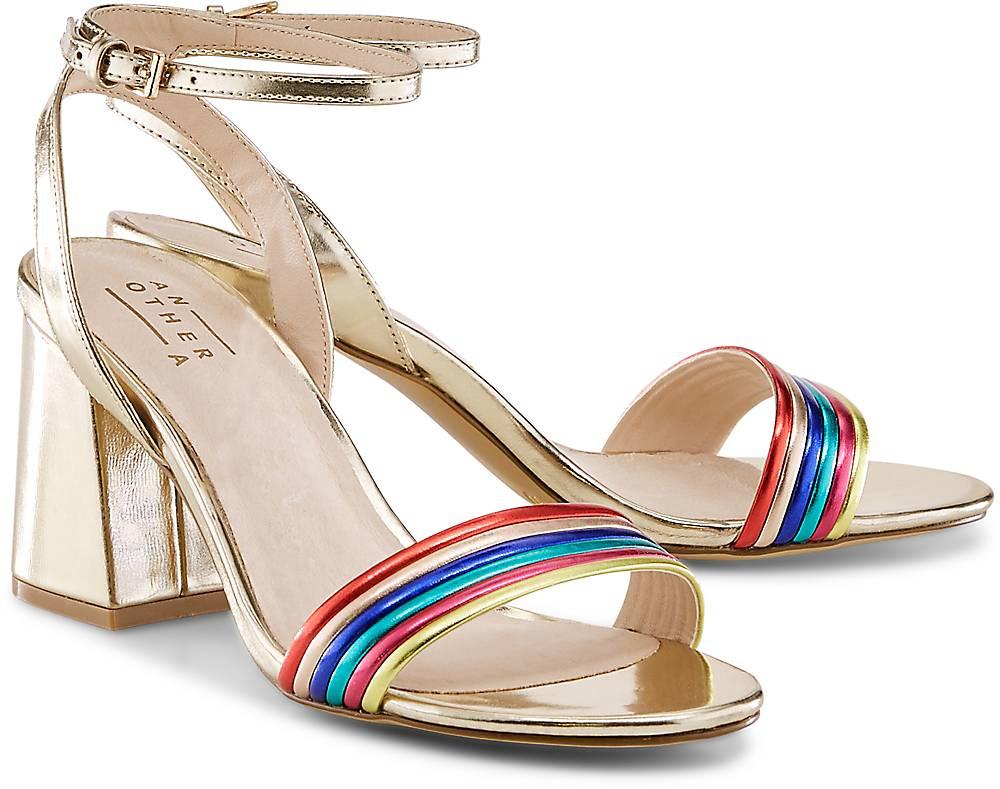 Riemchen-Sandalette von Another A in gold für Damen. Gr. 36,37,38,39,40,41,42 Preisvergleich