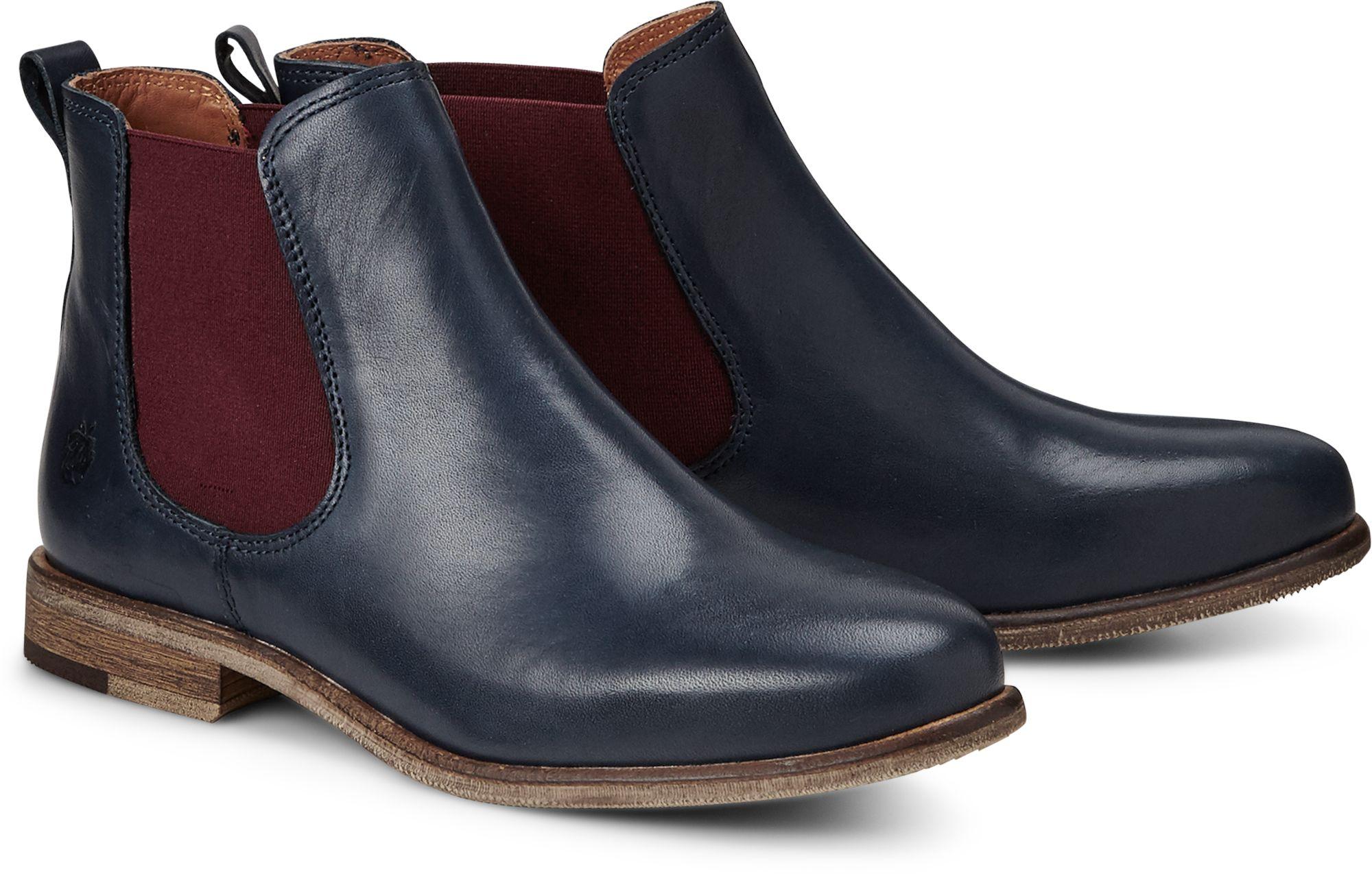 9f10f659d4cefa Chelsea Boots MANON von Apple of Eden in blau dunkel für Damen. Gr ...