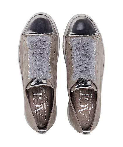 attilio giusti leombruni luxus sneaker sportliche schn rer taupe g rtz. Black Bedroom Furniture Sets. Home Design Ideas