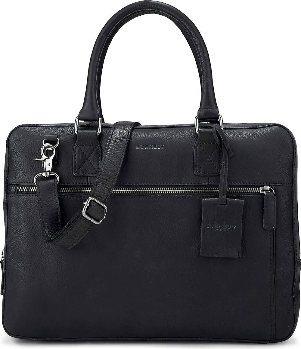 BURKELY| Business-Tasche Antique Avery Laptopbag in schwarz| Businesstaschen für Herren | Taschen > Business Taschen > Sonstige Businesstaschen | BURKELY