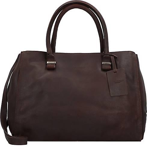 BURKELY Vintage Wieske Handtasche Leder 35 cm
