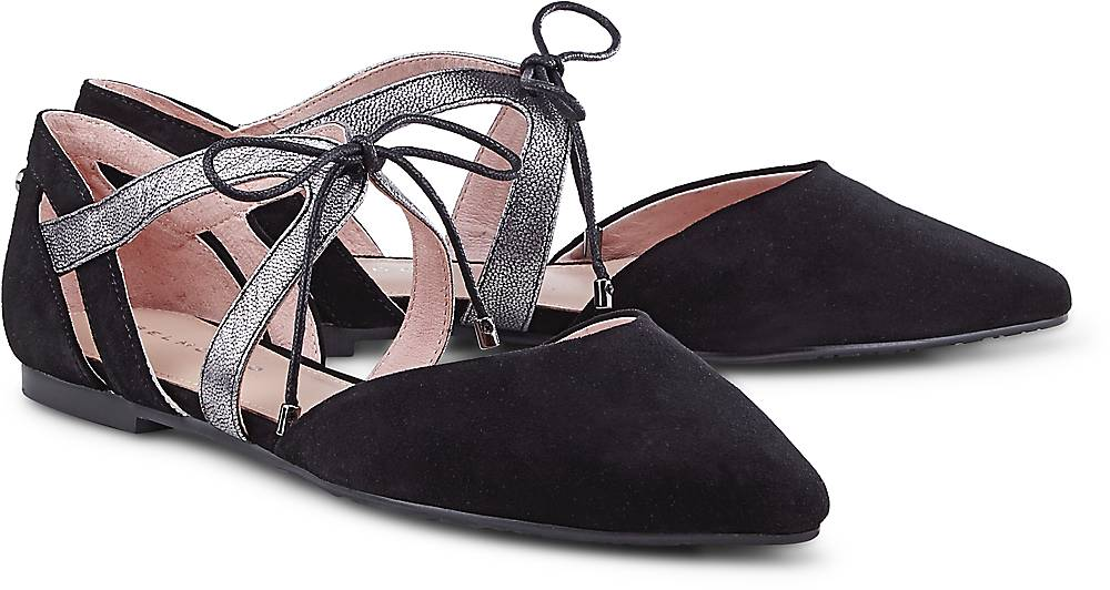 Schnür-Ballerina von Belmondo in schwarz für Damen. Gr. 37,40 Preisvergleich