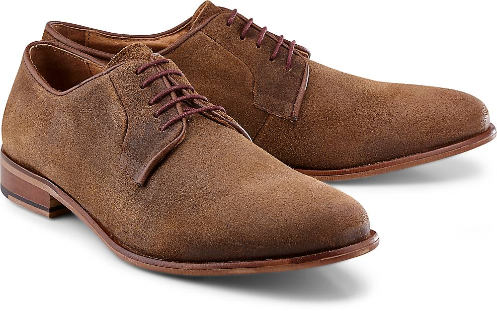 Belmondo, Velours-Schnürer in braun, Business-Schuhe für Herren Gr. 40