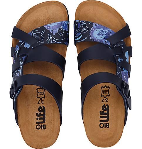 Bio Life Fashion-Pantolette in - blau-mittel kaufen - in 47436501 GÖRTZ Gute Qualität beliebte Schuhe a0387d