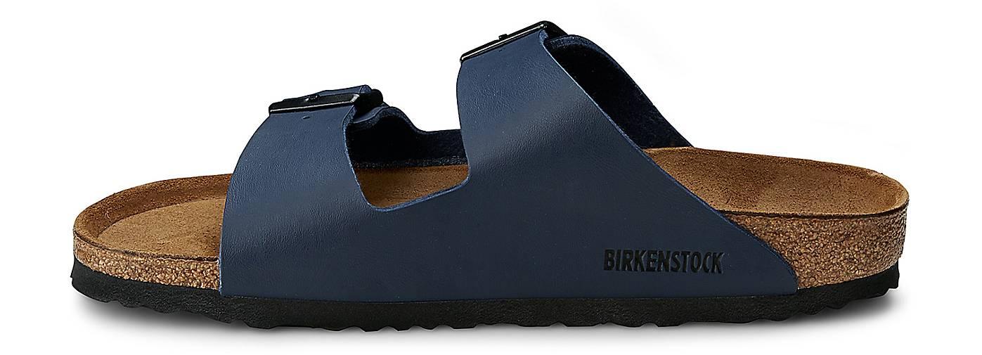 birkenstock pantolette arizona hausschuhe blau dunkel g rtz. Black Bedroom Furniture Sets. Home Design Ideas