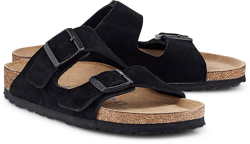 Pantolette Arizona von Birkenstock in schwarz für Damen. Gr. 36,37,38,40,41 Preisvergleich