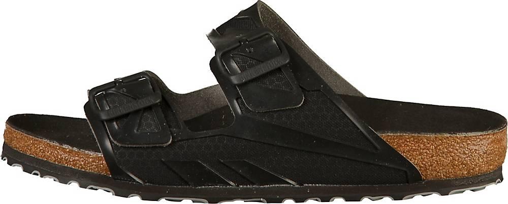 Birkenstock, Pantoletten Arizona Rubberized in schwarz, Sandalen für Herren
