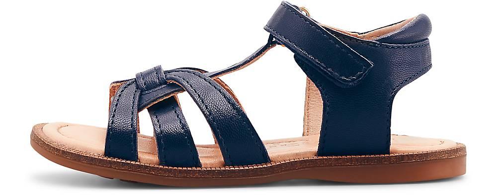 Bisgaard, Leder-Sandale Bex in dunkelblau, Sandalen für Mädchen, Größe: 26