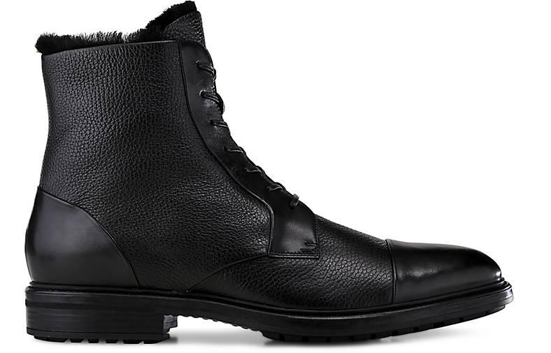 Boss Lammfell-Stiefel in schwarz kaufen - 46600101 | Schuhe GÖRTZ Gute Qualität beliebte Schuhe | 4ca9f9