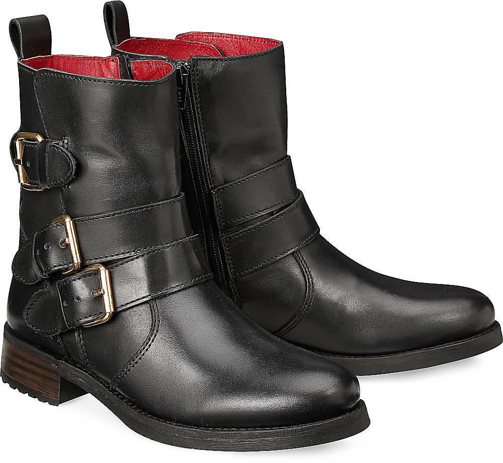 Buffalo, Biker-Boots in schwarz, Stiefeletten für Damen Gr. 36