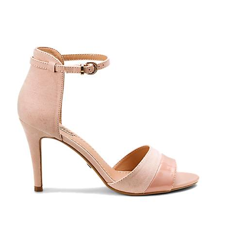 Beige Shoe With Rose Gold Heel