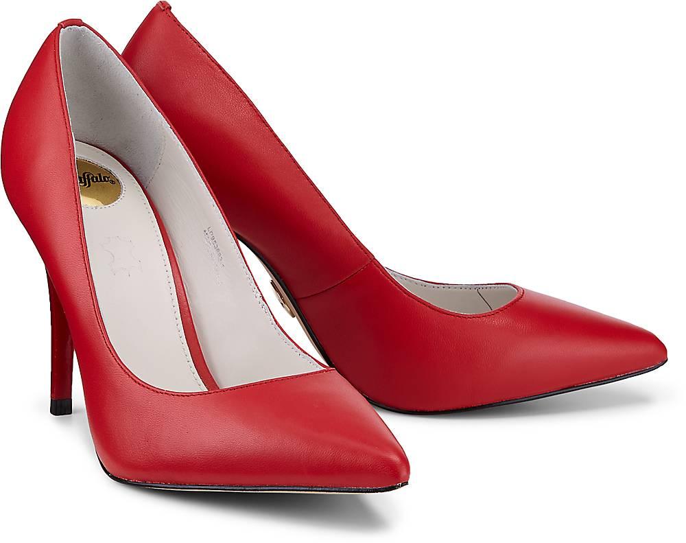 Leder-Pumps von Buffalo in rot für Damen. Gr. 36,37,38,39,40,41 Preisvergleich