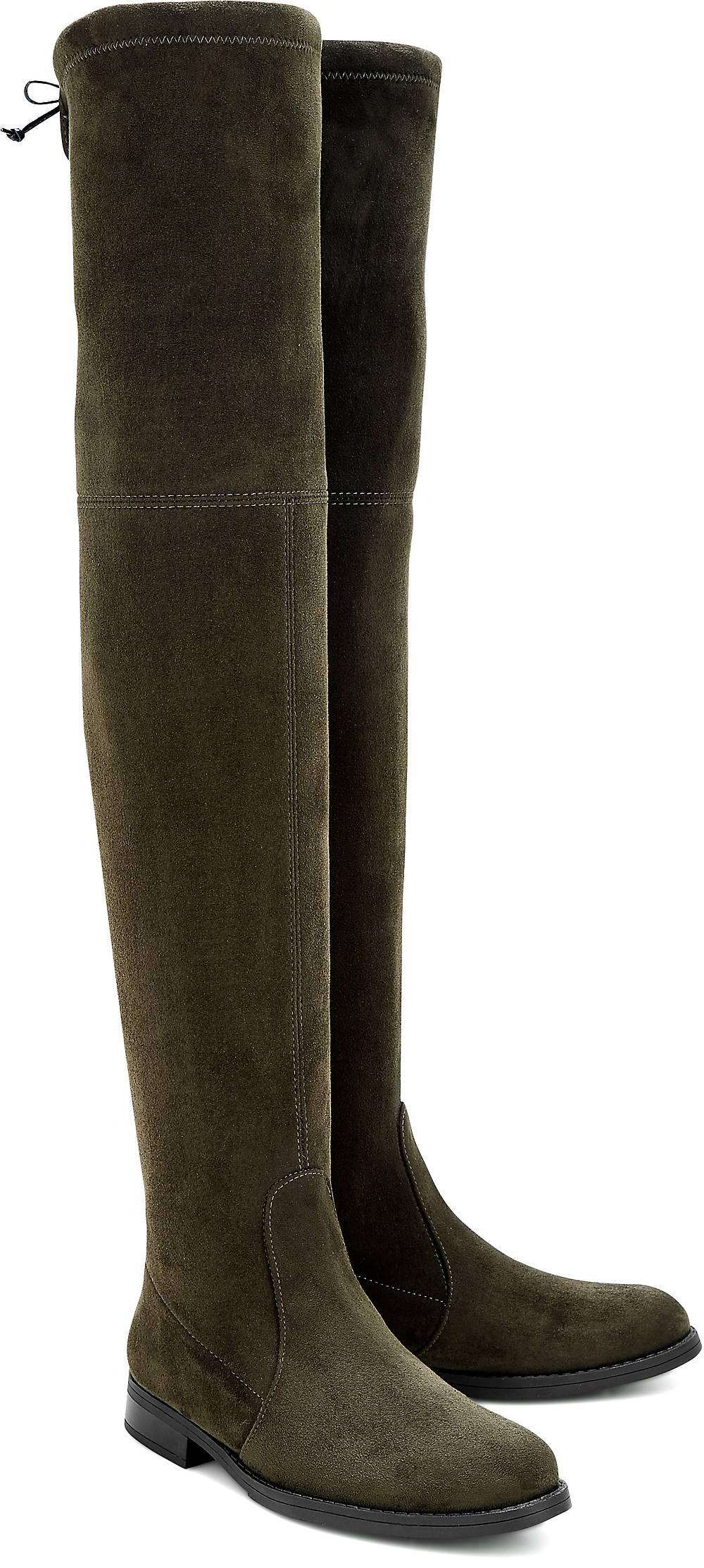 Buffalo, Overknee-Stiefel in khaki, Stiefel für Damen Gr. 36