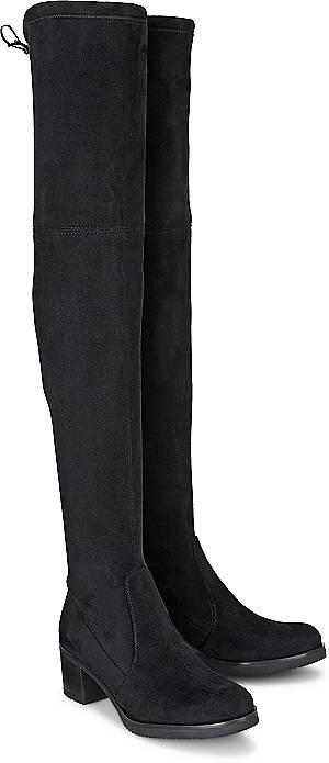 Buffalo, Overknee-Stiefel in schwarz, Stiefel für Damen