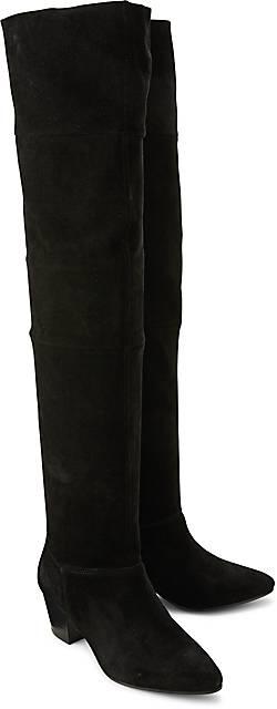 s oliver overknee stiefel klassische stiefel schwarz. Black Bedroom Furniture Sets. Home Design Ideas
