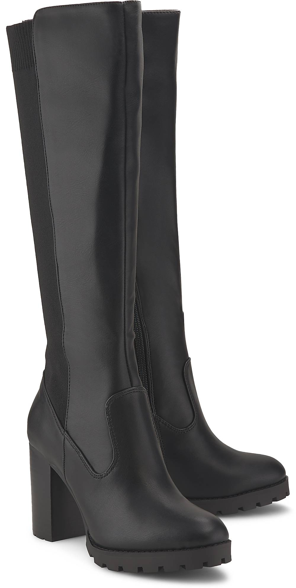 Buffalo| Plateau-Stiefel Felicita in schwarz| Stiefel für Damen | Schuhe > Stiefel > Plateaustiefel | Buffalo