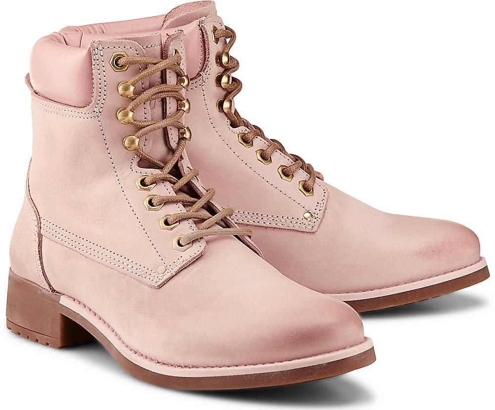 Buffalo, Schnür-Stiefelette in rosa, Stiefeletten für Damen Gr. 37