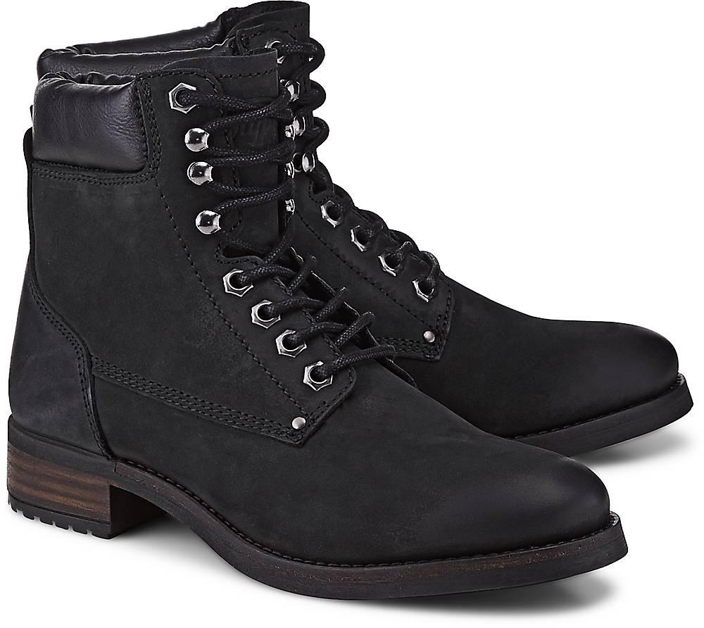 Buffalo, Schnür-Stiefelette in schwarz, Stiefeletten für Damen Gr. 36