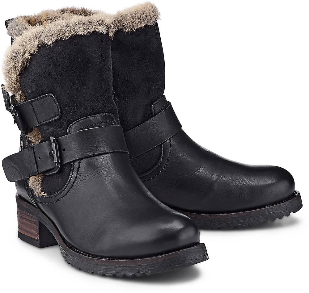 Buffalo, Trend-Stiefel in schwarz, Stiefeletten für Damen Gr. 36
