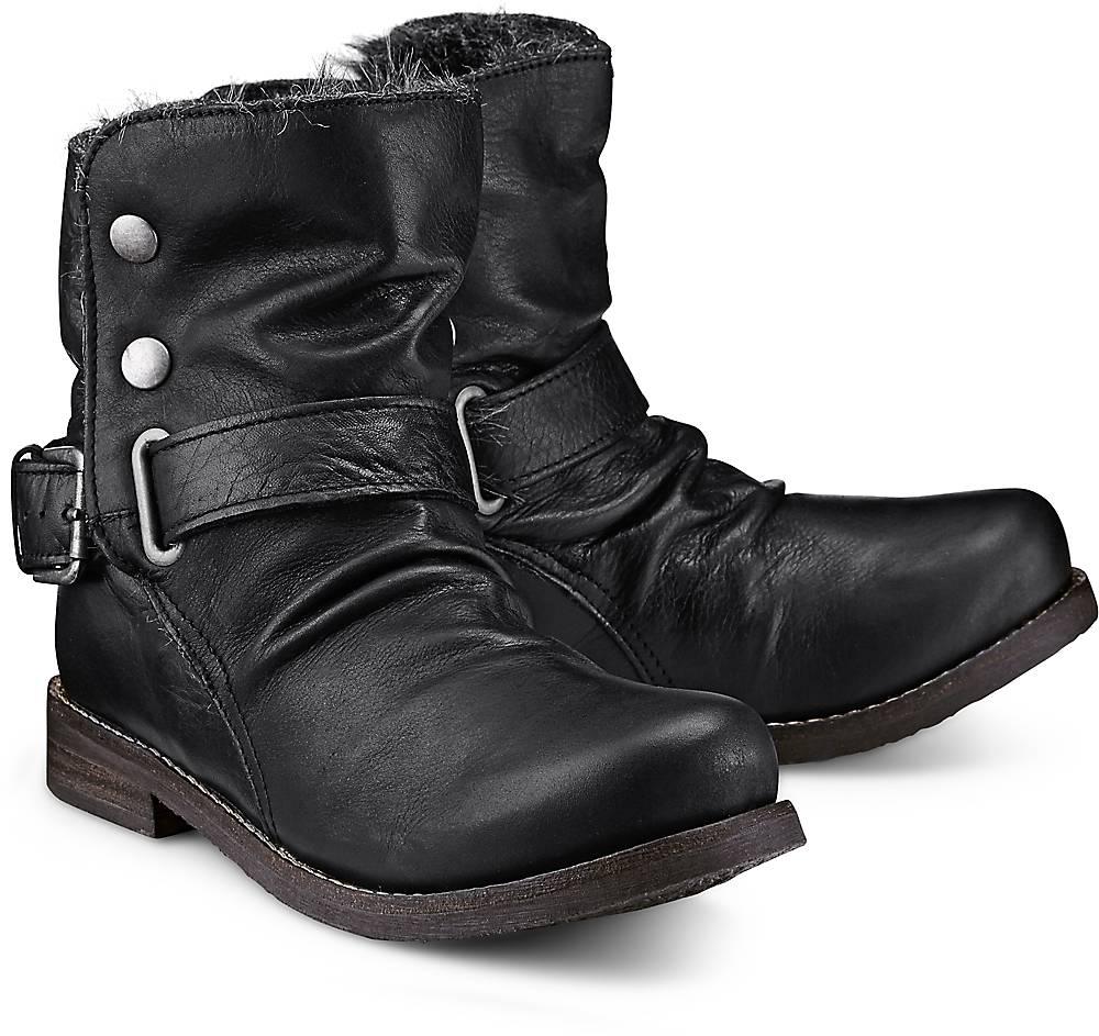 Buffalo, Winter-Biker-Boots in schwarz, Stiefeletten für Damen Gr. 36