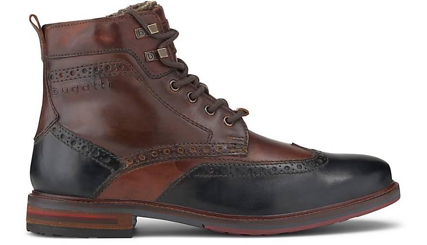 bugatti Marcello Herren Winterstiefel Braun Schuhe, Größe:46