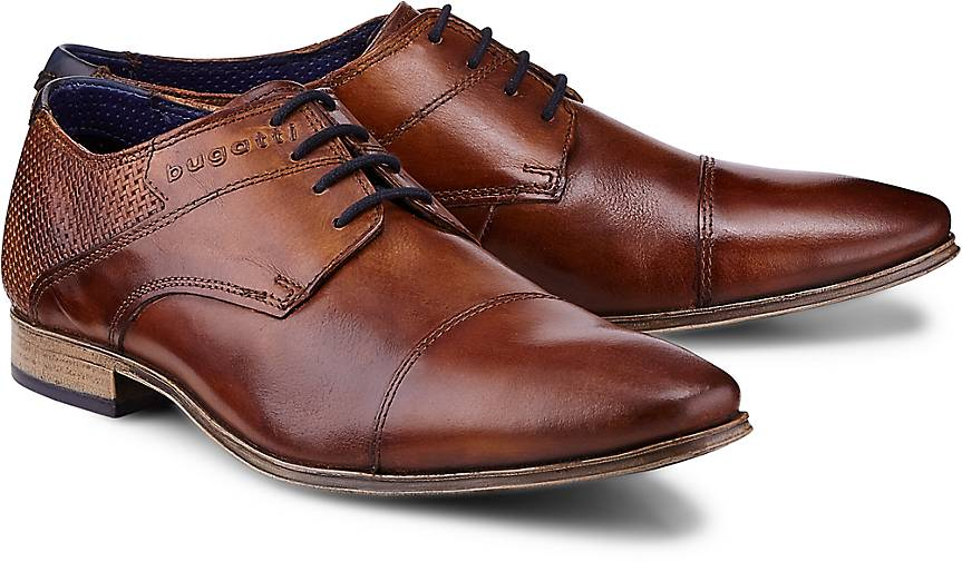 Bugatti City Derby-Schnürschuh in braun-hell kaufen - Qualität 46994401   GÖRTZ Gute Qualität - beliebte Schuhe 6a7398