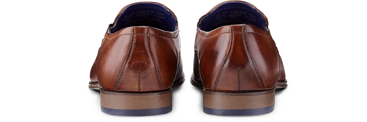 Bugatti GÖRTZ City Leder-Slipper in braun-mittel kaufen - 47190601 | GÖRTZ Bugatti Gute Qualität beliebte Schuhe 157e8e