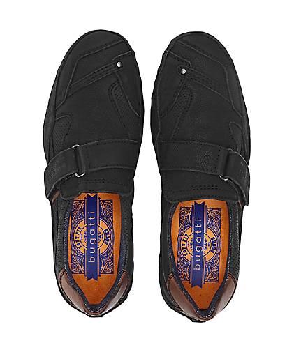 Bugatti Denim Leder-Slipper in schwarz GÖRTZ kaufen - 47341701 | GÖRTZ schwarz Gute Qualität beliebte Schuhe 6ea83a