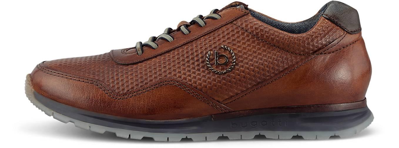 Bugatti Denim Leder-Sneaker