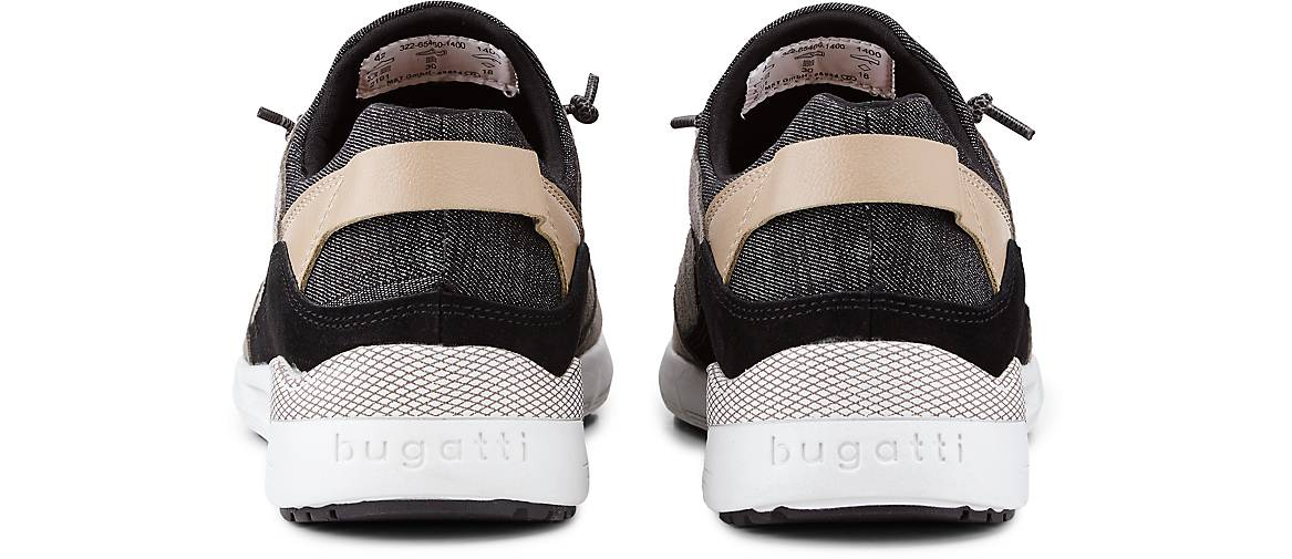 Bugatti Denim Leder-Turnschuhe in in in taupe kaufen - 48111601 GÖRTZ Gute Qualität beliebte Schuhe 2561f5