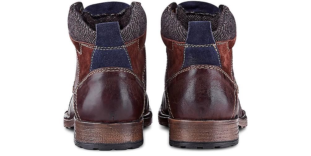 Bugatti GÖRTZ Denim Schnür-Boots in bordeaux kaufen - 46624101 | GÖRTZ Bugatti Gute Qualität beliebte Schuhe a26082