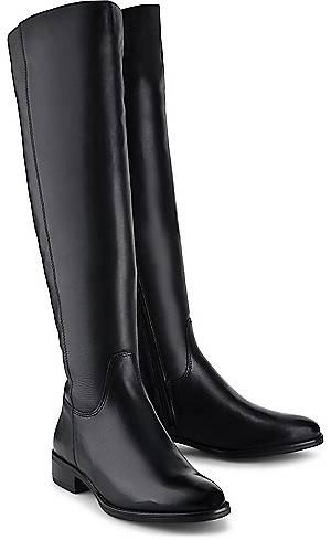 COX, Leder-Stiefel in schwarz, Stiefel für Damen