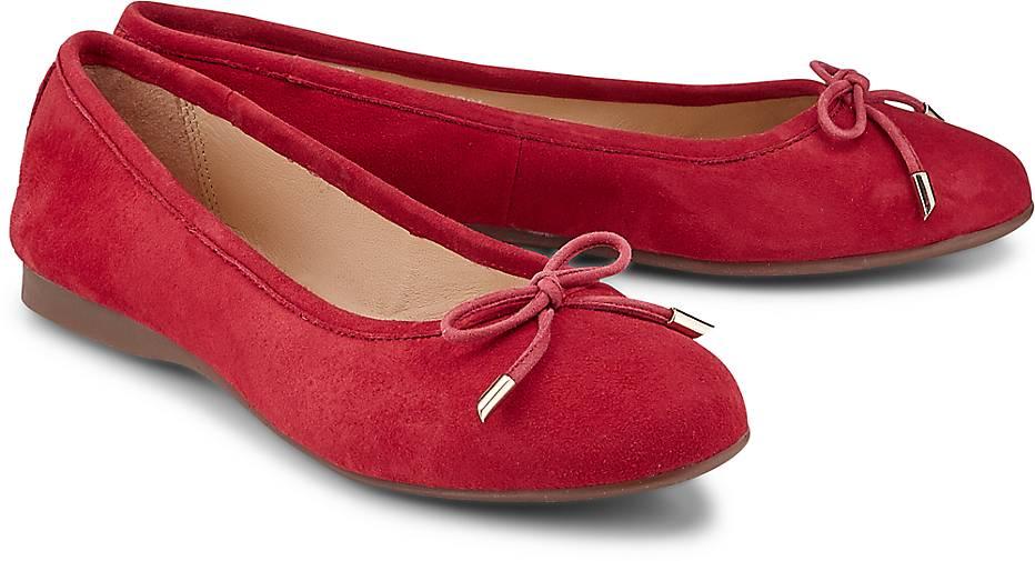 7cb488beaf523c COX Nubuk-Ballerina in rot kaufen - 45446907