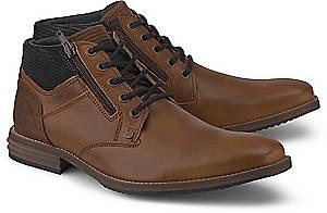 COX, Schnür-Boots in braun, Schnürschuhe für Herren