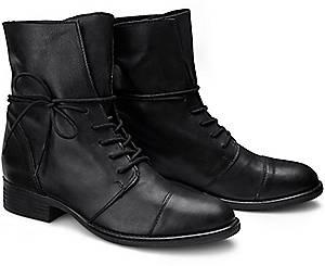 COX, Schnür-Boots in schwarz, Boots für Damen