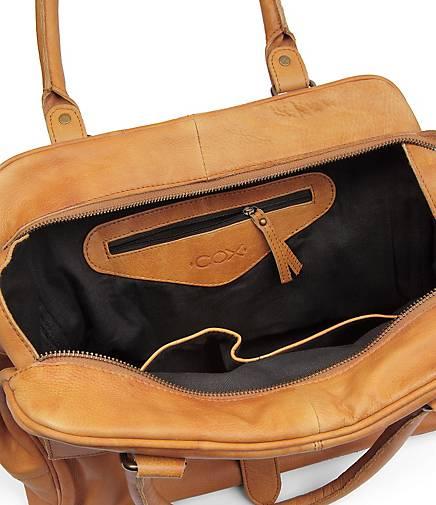 f56dd00c5b5dc COX Vintage-Bag in braun-hell kaufen - 42632902