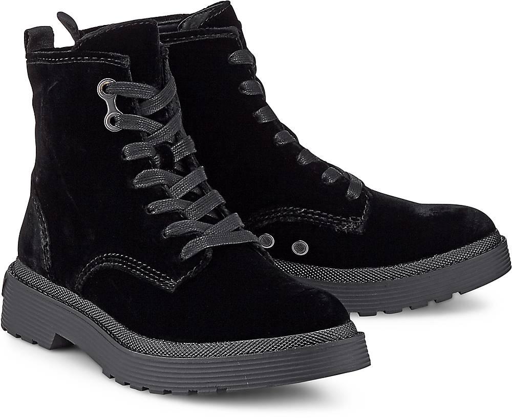 Calvin Klein, Boots Annie Velvet in schwarz, Stiefeletten für Damen Gr. 38