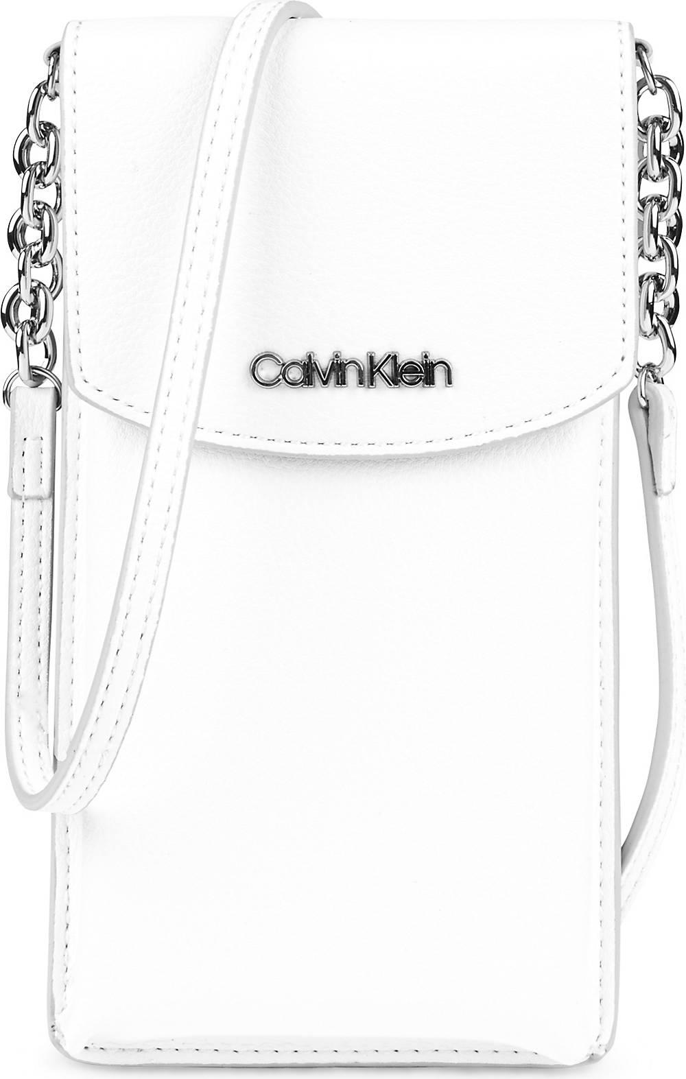 Calvin Klein, Handytasche in weiß, Handyhüllen & Zubehör für Damen